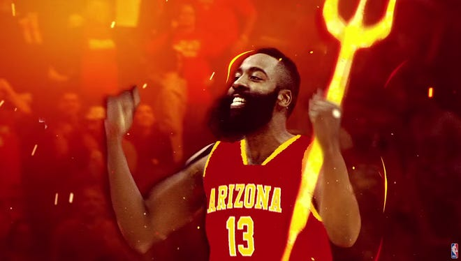 James Harden turned into a Sun Devil during an NBA commercial.