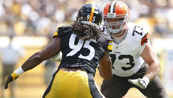The Browns' offensive line is looking to overcome many