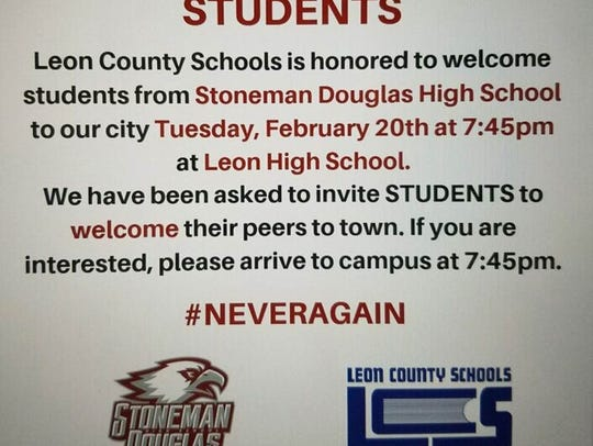 An invitation from Leon County Schools