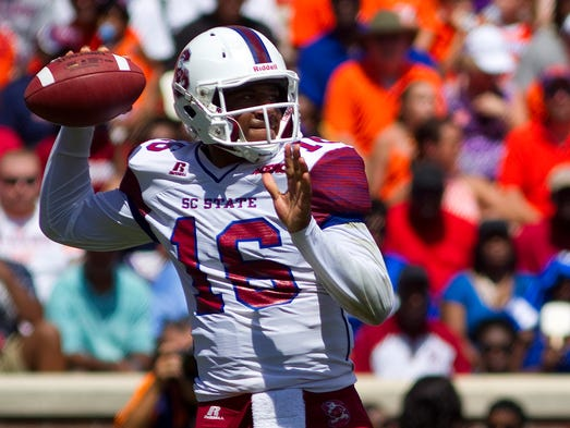 South Carolina State Bulldogs quarterback Adrian Kollock