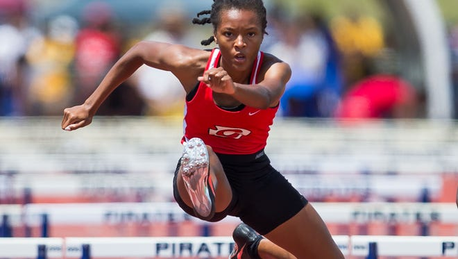 Clinton's Monica Mosley won the Girls 6A 100 and 200 Meter Hurdles during MHSAA State Championship Track held in Pearl last year.