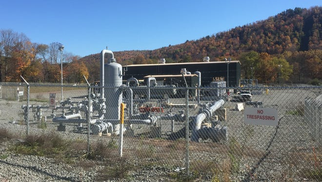 A compressor station at a pipeline in Susquehanna County moves Pennsylvania's gas to New York.