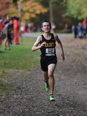 Bergen Tech's Anthony DiIorio, during the Big North Liberty Cross-Country championships this past fall, is expected to compete and looks to defend his 3,200 title next week at the Big North Liberty division meet at the Ocean Breeze Athletic Complex in Staten Island.