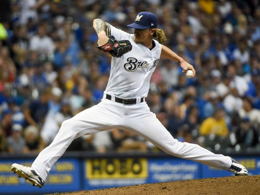 USP MLB: LOS ANGELES DODGERS AT MILWAUKEE BREWERS S BBN MIL LAD USA WI
