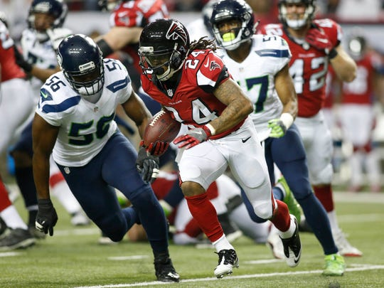 Atlanta Falcons running back Devonta Freeman has been tough to stop late in the season.