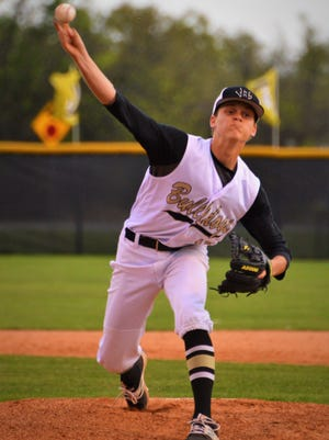 Clyde's Tanner Riley, shown here during the first inning of Tuesday's game against Stanton, is one of several effective arms a deep CHS pitching staff.