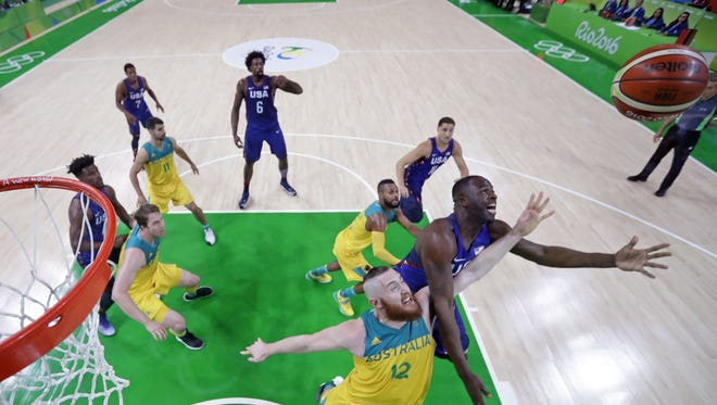 Aron Baynes and Draymond Green could meet again for basketball gold Sunday. First things first, though, are semifinals Friday.