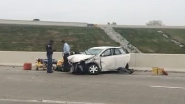 A man was seriously injured in a multi-vehicle accident on I-465 near I-74.