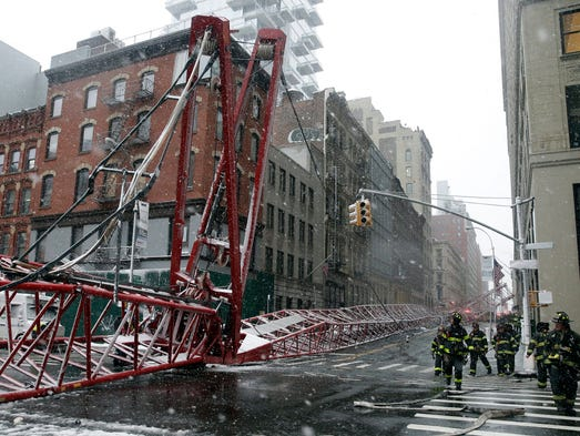 Members of the New York City Fire Department are seen