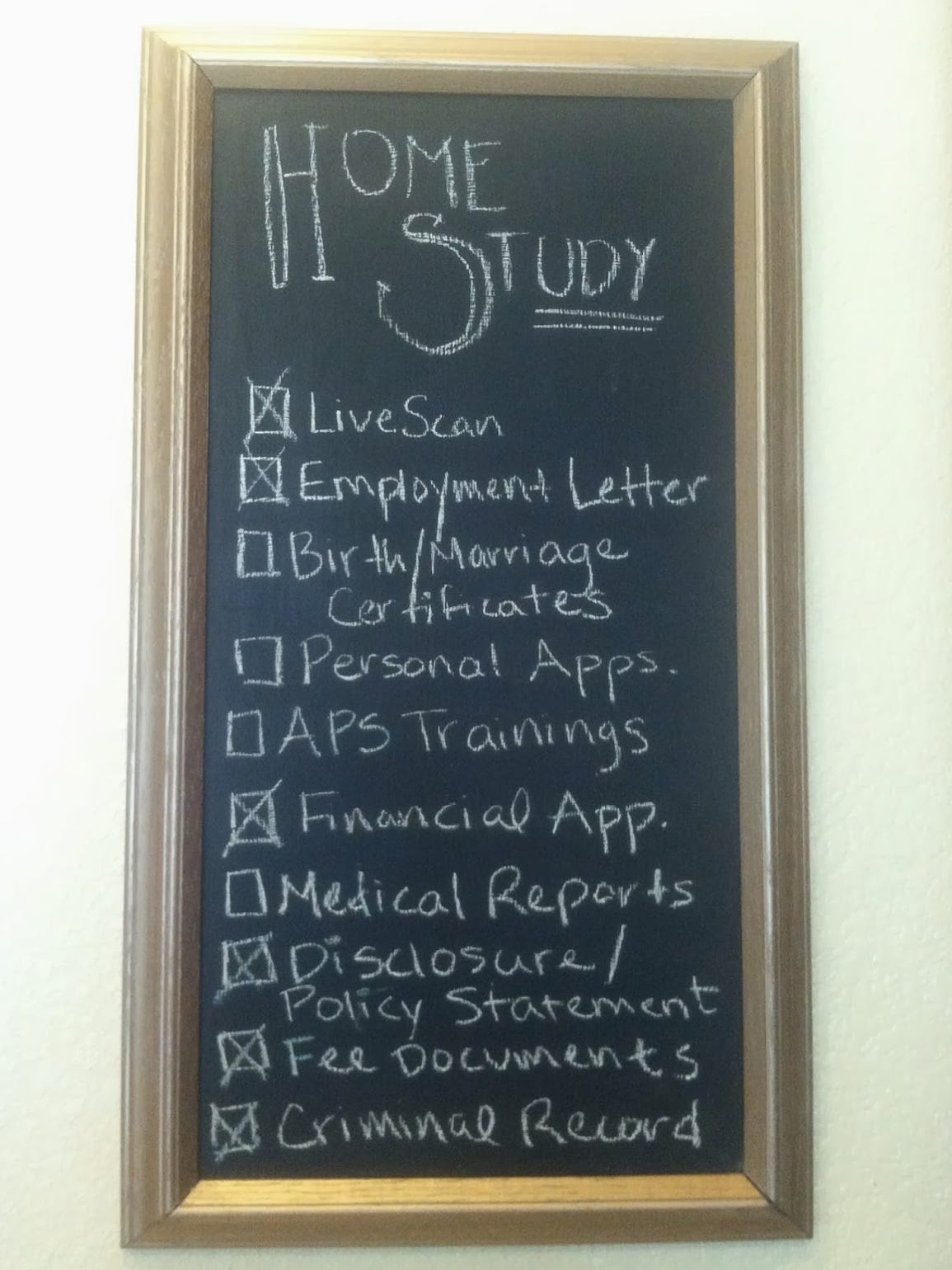 Completing a home study is one of many steps in the