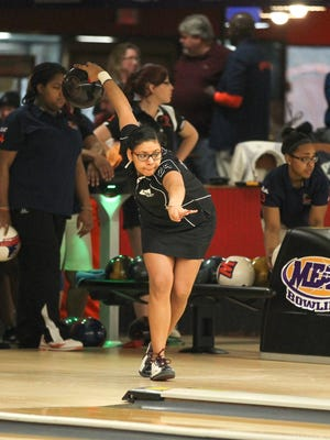 Thashaina Seraus played a key role in UMES winning the MEAC bowling championship this season.