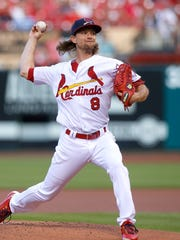 St. Louis Cardinals starting pitcher Mike Leake.
