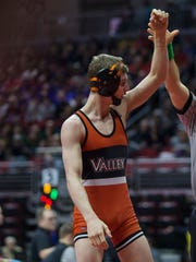 West Des Moines Valley's Nick Oldham went 6-0 with five pins at the Battle of Waterloo.