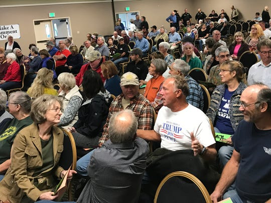 It was a standing-room only crowd for a Rep. Doug LaMalfa