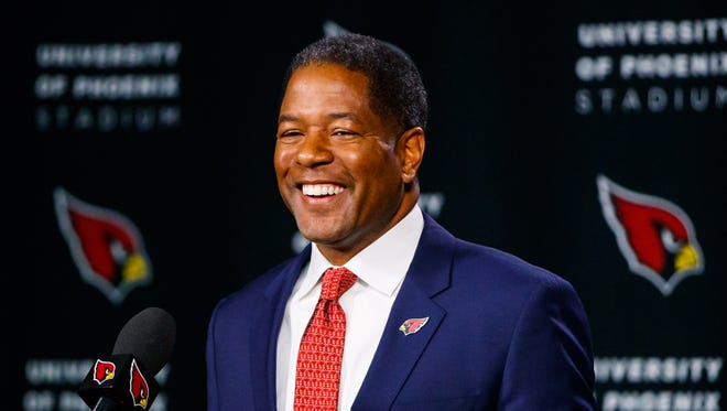 Steve Wilks is asking questions at the NFL Scouting Combine.