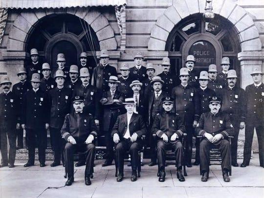 The Burlington Police Department in 1913.