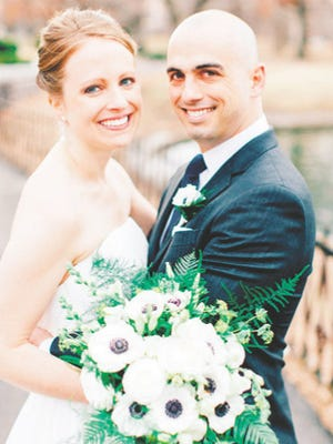 Janine Spain and Mike Rhoades were married on March 14, 2015, at Trinity Lutheran Church, St. Louis MO.