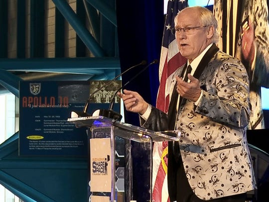 In this July 15, 2017, file photo, Andrew Aldrin, Apollo