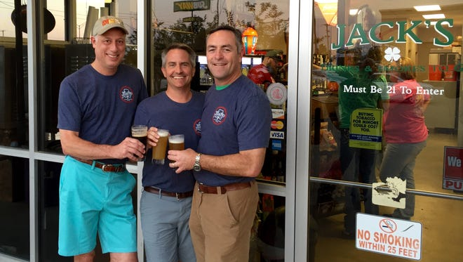 (From left) Edan Moran, Mike Brunet and Ray Gill are starting Alexandria's first microbrewery out of Jack's on La. Highway 28 West.