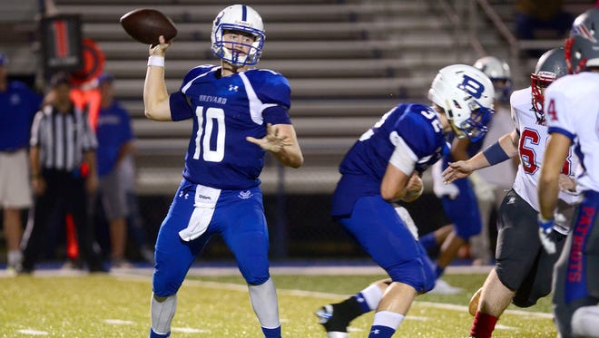 Brevard senior Tanner Ellenberger recently passed for his 5,000th yard.