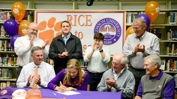 North Buncombe senior Callista Rice has signed to play college golf for Clemson.