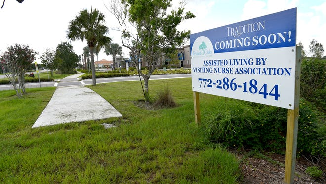 An assisted-living facility developed by the Visiting Nurse Association is planned for construction on the Southern Grove property along Tradition Parkway in Port St. Lucie. Several other projects are under construction in the area, including Tradition Parkway Dental Care, also along Tradition Parkway, and Del Webb Tradition, a 55-and-older active adult community along Southwest Village Parkway near Becker Road.
