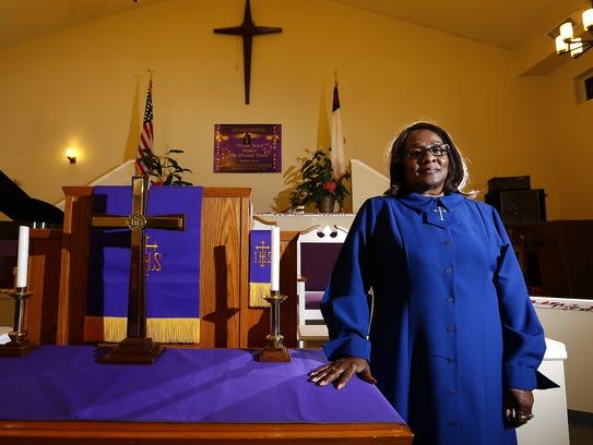 Gospel singer Rev. Brenda Lumzy-Hicks of the Lumzy