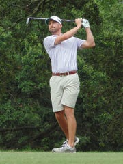 Brandon Aydlett of Metairie tees off at the 17th hole
