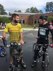 Friends came out to share the road with Jim Russell during his Kearney Center ride.
