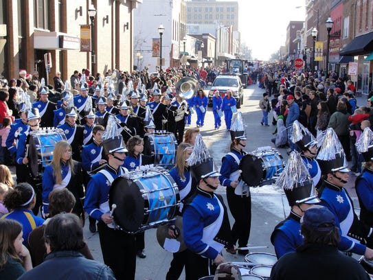 There are 70 entries, which includes marching bands,