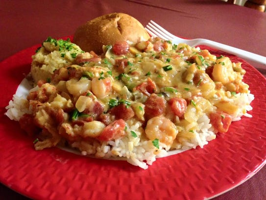 Crawfish and shrimp etouffee is one of the Louisiana