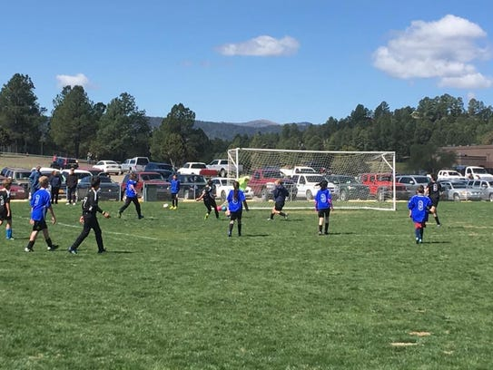 Parents of players in the Ruidoso Youth Soccer League