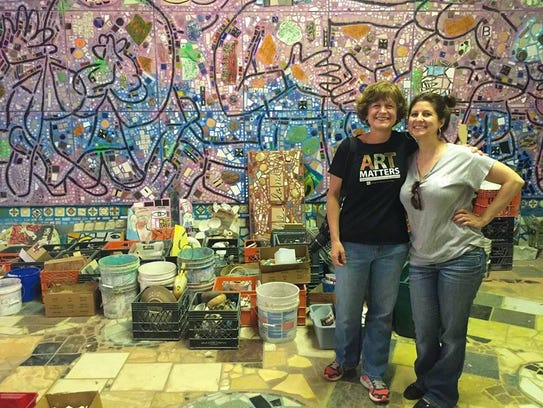 Holly Strayer, left, and Melissa Deekan, at a workshop