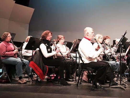 Members of the Lakeshore Wind Ensemble