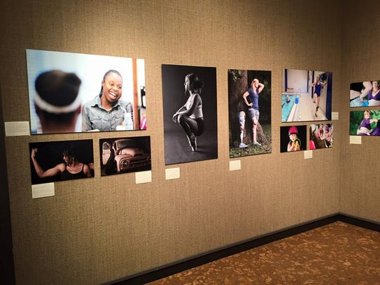 Photos displayed at the 2015 Embrace Your Body Gallery