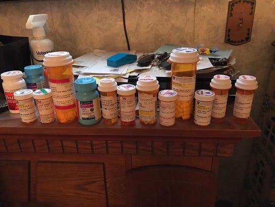 Prescriptions taken by Alex Solis, a kidney transplant