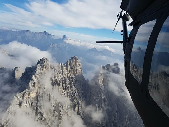 The Austrian Alps stand out at 9,000 feet as Alpha