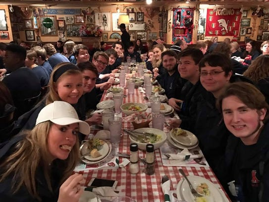 Students in the West Monroe High School band ate at