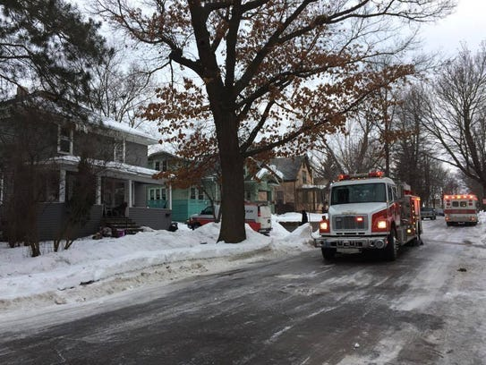 Two families are safe after an attic fire ignited in