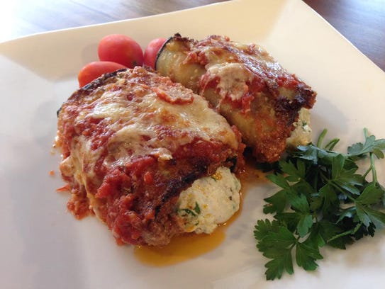 Eggplant rollatini was a recent special at Tasty Cultures