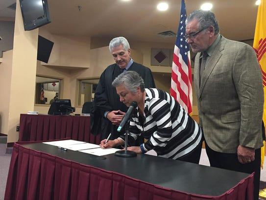 Las Cruces Public Schools Board President Maria Flores