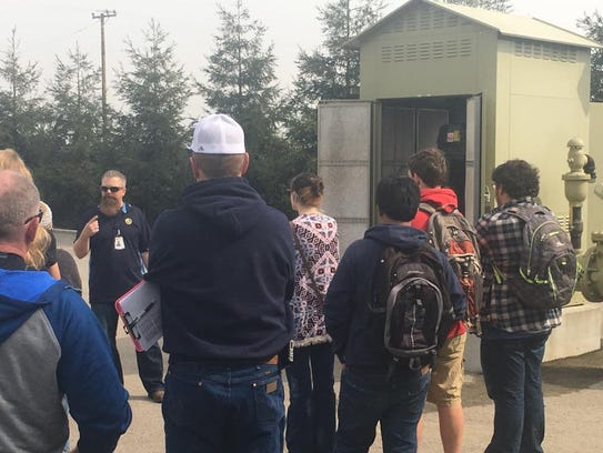 Visalia students toured the Cal Water facility.