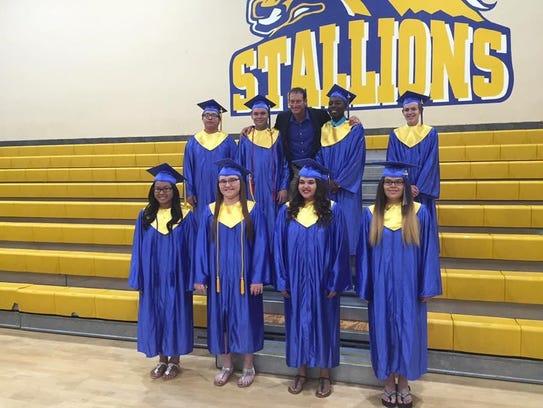 Graduating seniors at Sequoia Deaf School in 2016.
