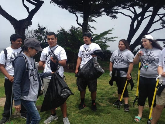 The 3rd Youth Leadership academy during beach cleanup.