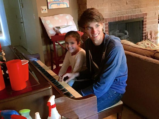 Sawyer meets with Katie once a week for piano lessons.