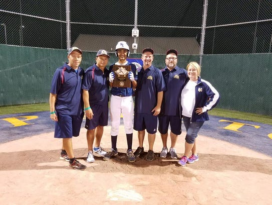 Edison's Mihir Patel won a first-place plaque in the