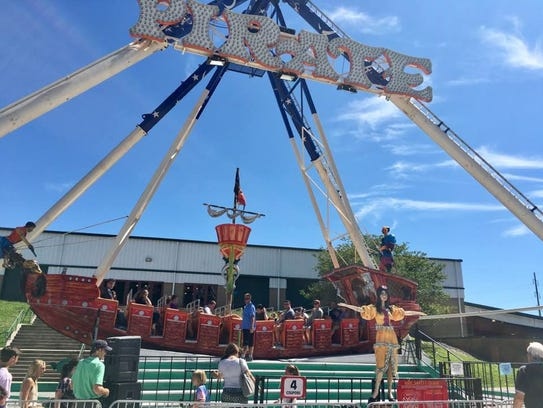 The Pirate ride at the Williamson County Fair on Aug.