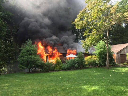 A Kincaid Road home was destroyed Monday in a structure