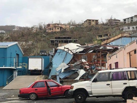 Hurricane Irma ravaged parts of the U.S. Virgin Islands.