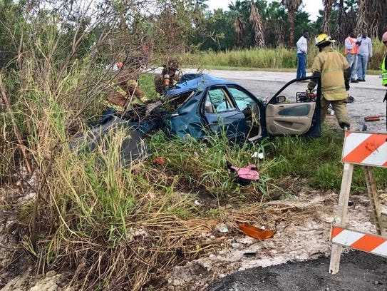 One person died after athree-vehicle crash at West